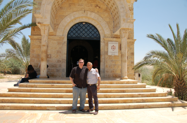 I am so grateful for Rustom Mkhjian, the Jordanian official who oversees the Baptism Site, for giving me a personal tour and briefing.